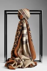 Burberry Animal Print Haymarket Check Scarf - Lyst