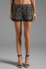 Diane Von Furstenberg Ginger Metallic Circle Lace Shorts in Black - Lyst