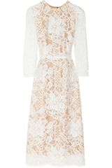 Dolce & Gabbana Lace and Silk-organza Midi Dress - Lyst
