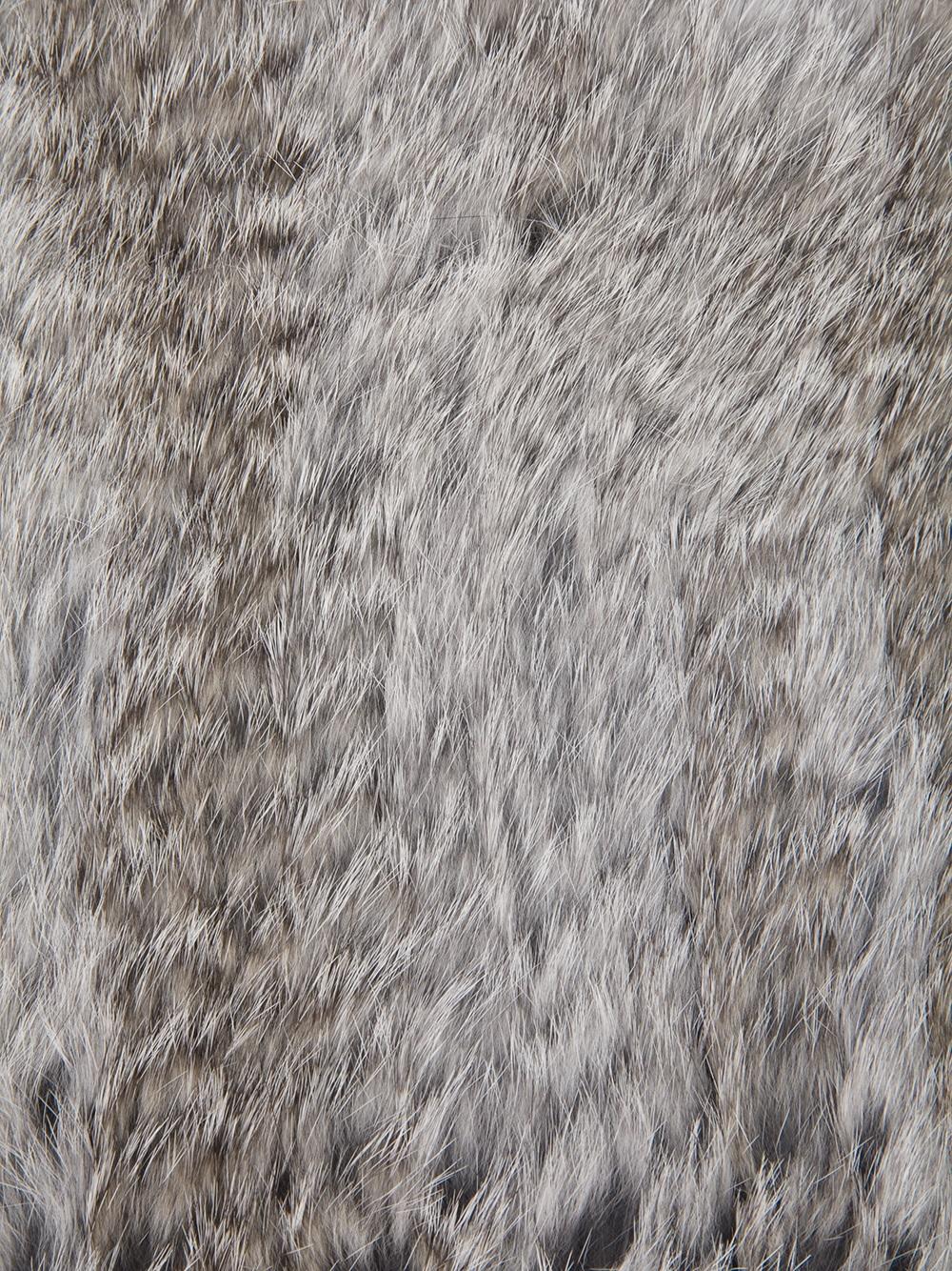 Emporio armani Rabbit Fur Snood in Gray Lyst