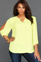 Inc International Concepts Threequartersleeve Blouse - Lyst