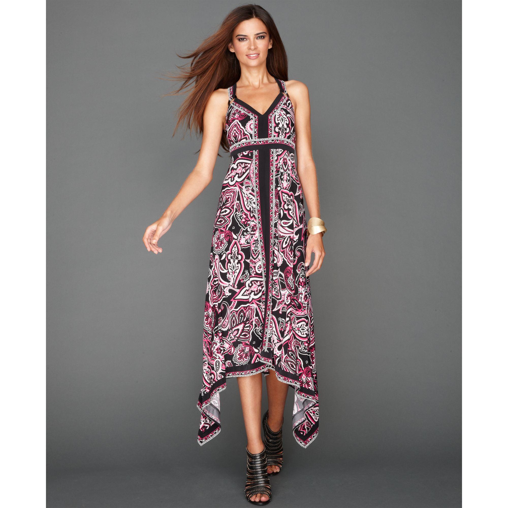1b3f0a29f22 INC International Concepts Sleeveless Handkerchief hem Maxi Dress - Lyst