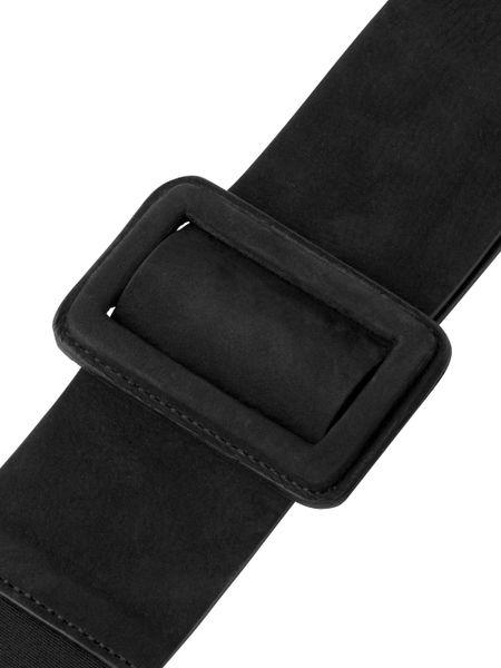 jaeger wide elastic waist belt in black lyst