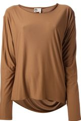 Lanvin Draped Long Sleeve Top - Lyst