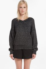 Maje V-neck Sweater - Lyst