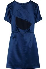 Marc By Marc Jacobs Etta Wool and Silk-blend Satin Dress - Lyst