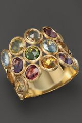 Marco Bicego Mini Jaipur Triple Layer Mixed Stone Ring - Lyst