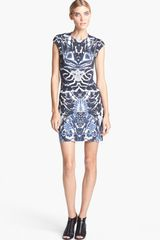 McQ by Alexander McQueen Interlock Print Dress - Lyst