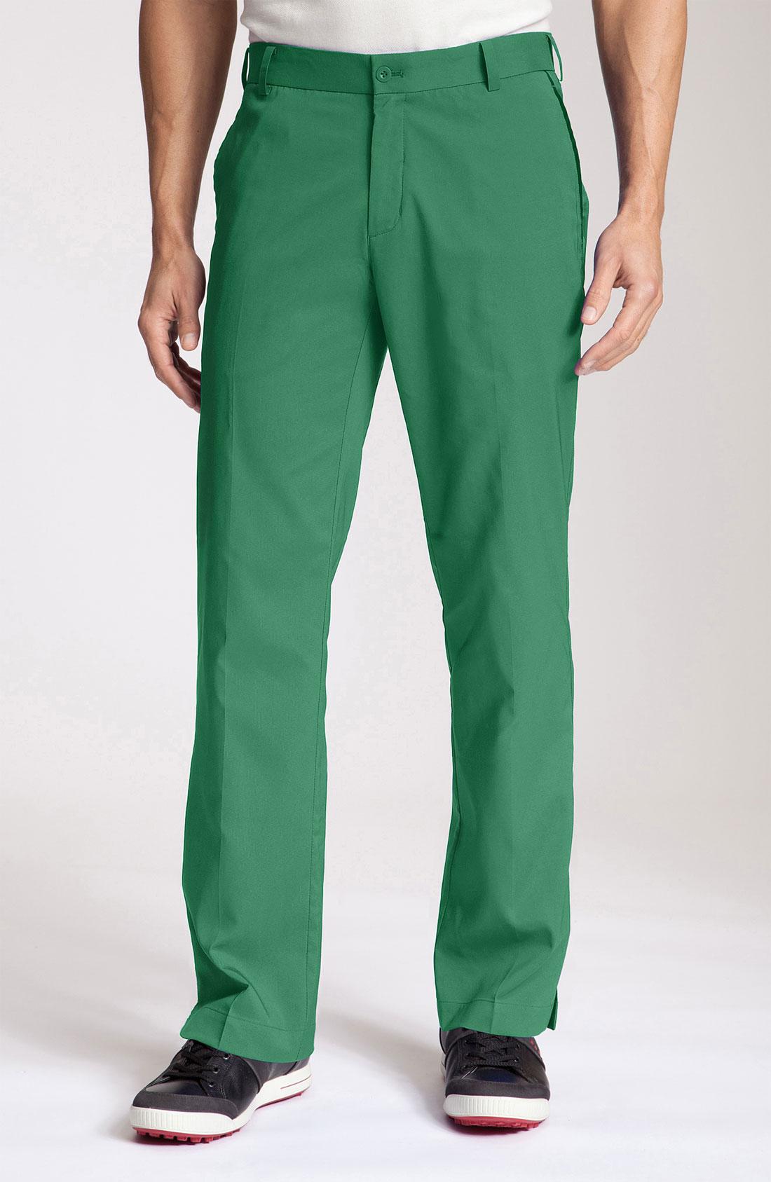 Nike Golf Mod Tech Flat Front Golf Pants in Green for Men ...
