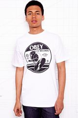 Obey Bomb Bird Records Tee in White - Lyst