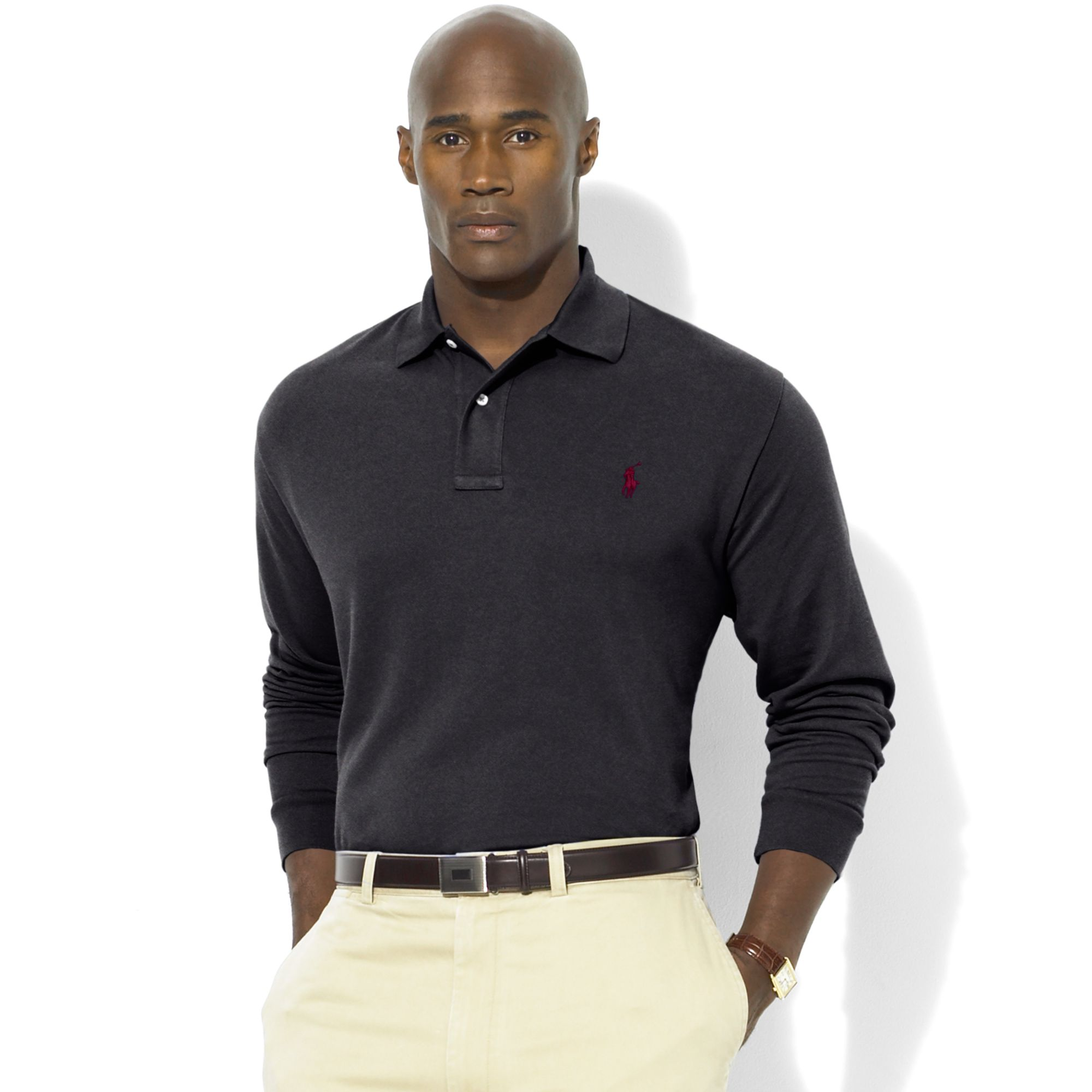 Ralph Lauren Käsilaukku : Lyst ralph lauren classicfit longsleeve cotton mesh polo