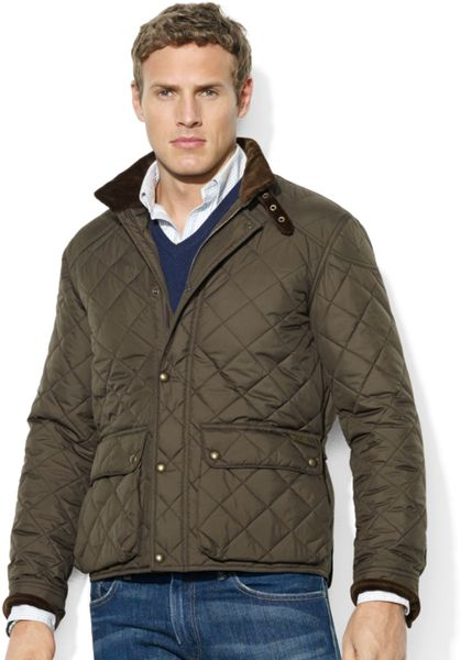 Ralph Lauren Cadwell Quilted Bomber Jacket In Green For