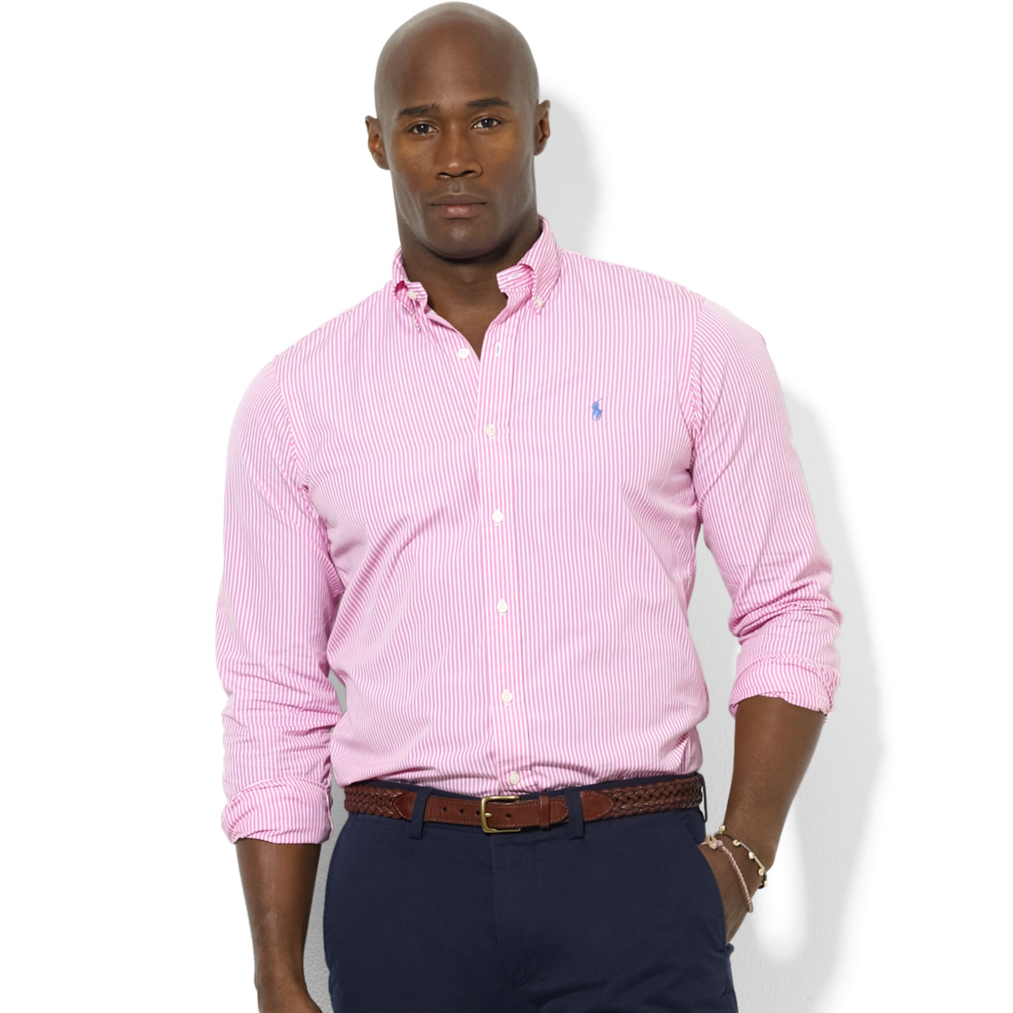 Ralph lauren Classic-fit Shortsleeve Striped Sport Shirt ...