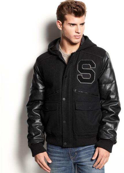 Sean John Varsity Jacket in Black for Men | Lyst