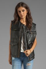 Shakuhachi Quilted Vest in Black - Lyst