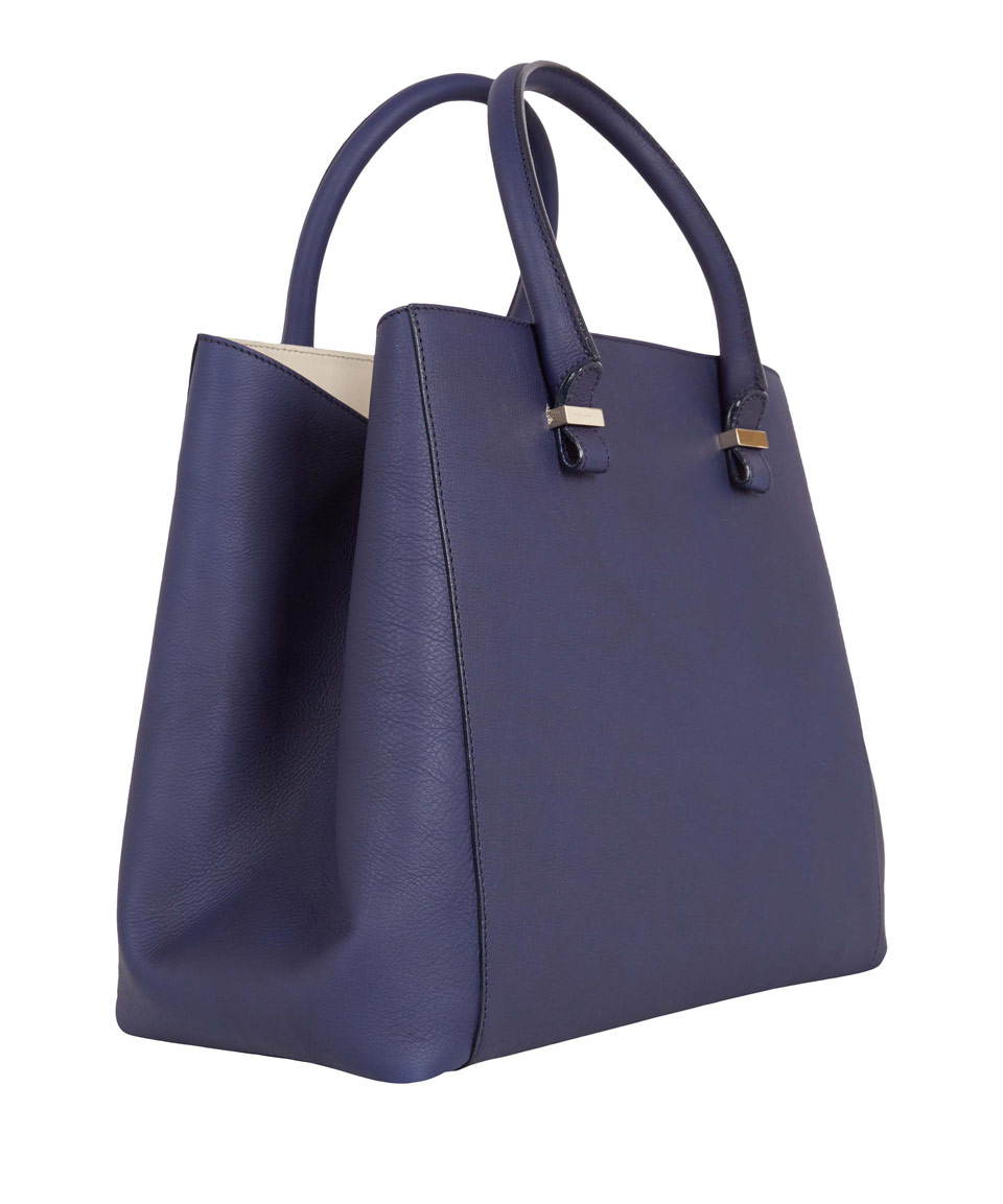 Victoria beckham Navy Liberty Tote Bag in Blue | Lyst
