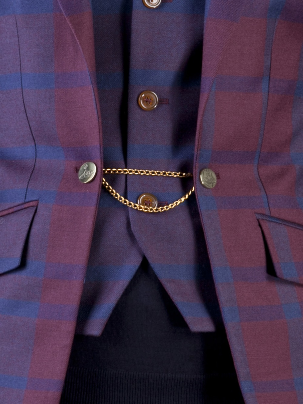 Vivienne Westwood Cable Chain Link Blazer In Blue For Men