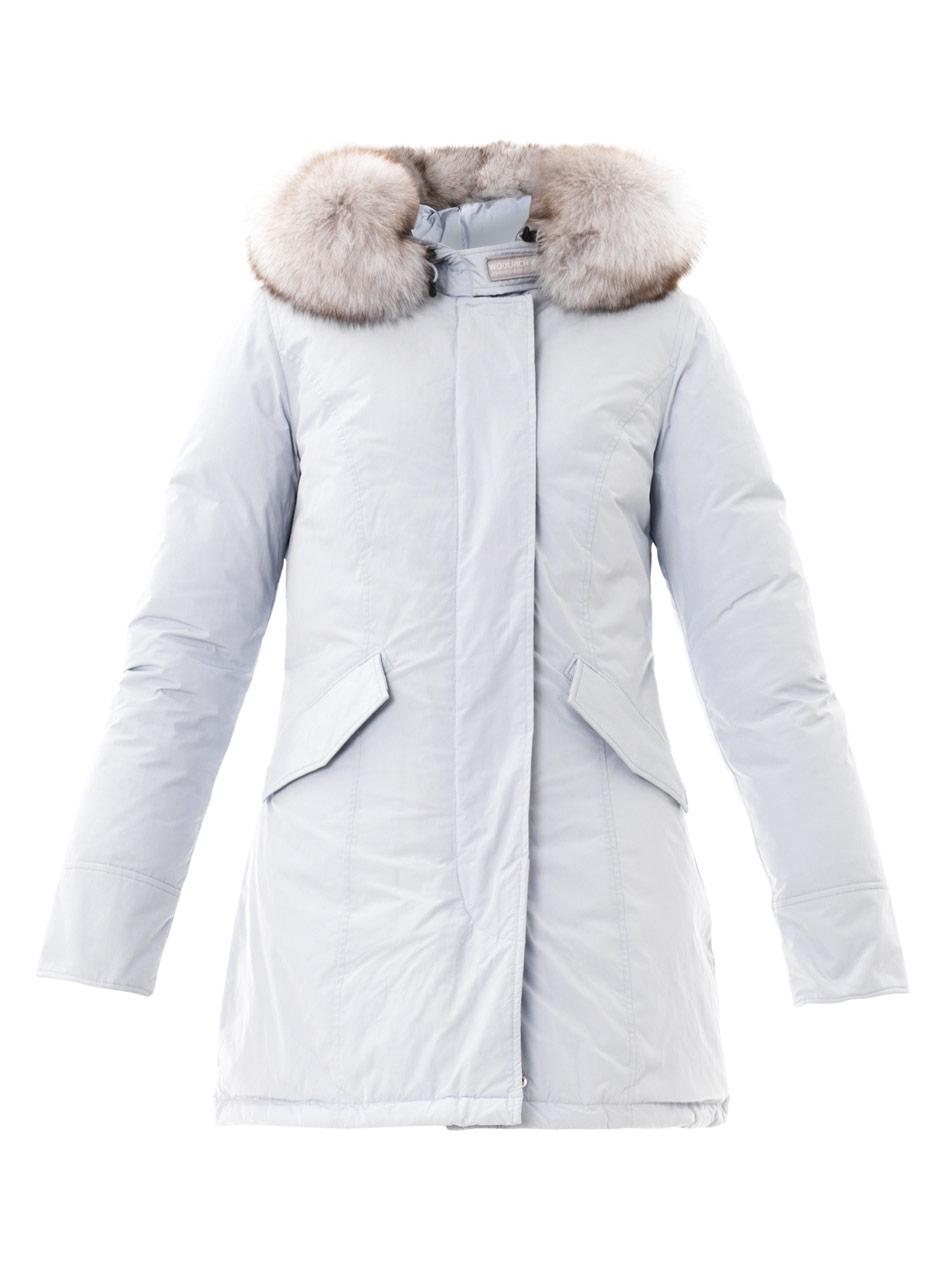 Lyst Woolrich Artic Furtrim Parka In White