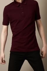 Burberry Cotton Piqué Polo Shirt - Lyst