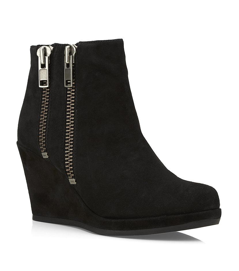 carvela kurt geiger spain wedge ankle boot in black