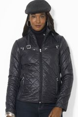 Lauren by Ralph Lauren Jacket Quilted Scuba Nylon - Lyst