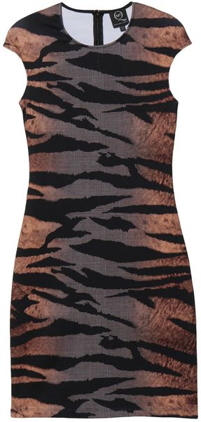 McQ by Alexander McQueen Tiger Print Dress - Lyst
