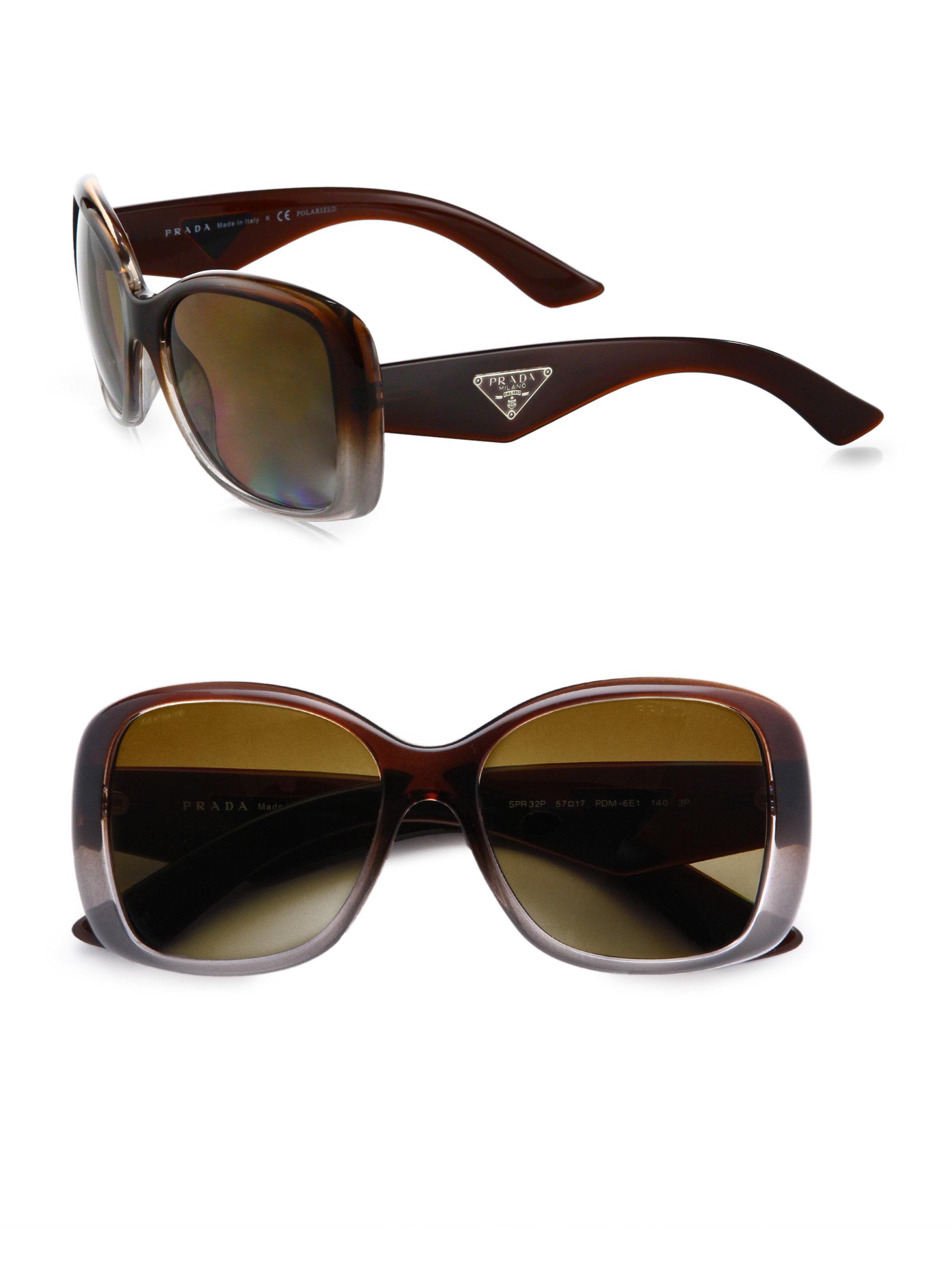 e517b9673c86 ... best price lyst prada oversized gradient square sunglasses in purple  9efad fedc3