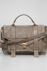 Proenza Schouler Ps1 Medium Satchel Bag Smoke - Lyst