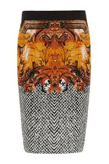 Roberto Cavalli Baroque Print Pencil Skirt - Lyst