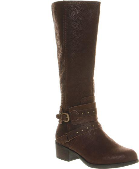 ugg esplanade calf boot in brown lyst