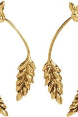 Aurelie Bidermann Gold Wheat Pendant Earrings - Lyst