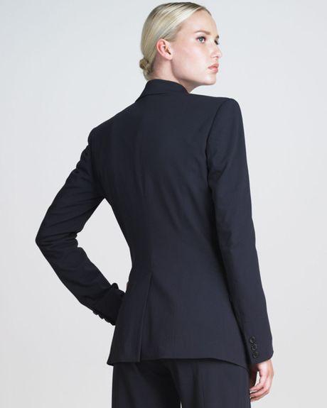 Donna Karan New York Onebutton Stretch Blazer In Black