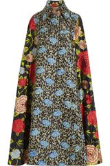 Duro Olowu Embroidered Silk Cape - Lyst