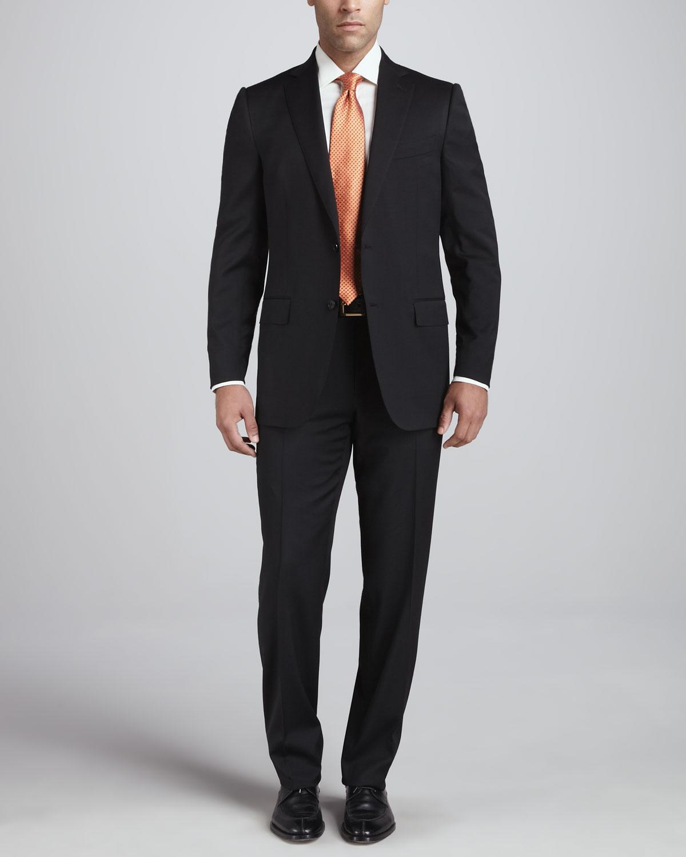 Ermenegildo Zegna Seasonless Wool Suit Black In Black For