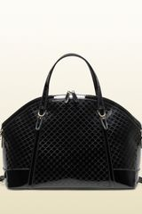 Gucci Gucci Nice Micro=guccissima Patent Leather Top Handle Bag - Lyst