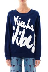 House Of Holland Viva La Vibe Sweatshirt - Lyst