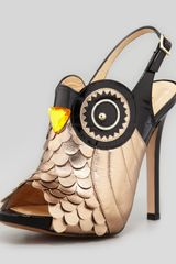 Kate Spade Night Owl Slingback Pump Blackrose Gold - Lyst