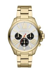 Michael Kors Midsize Golden Stainless Steel Wren Chronograph Watch - Lyst