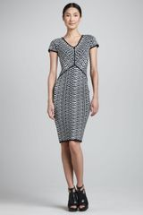 Narciso Rodriguez Opticalprint Jacquard Dress Blackwhite - Lyst