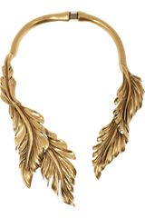 Oscar de la Renta Goldplated Leaf Necklace - Lyst
