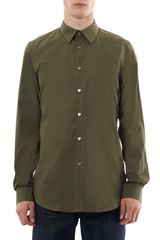 Paul Smith Solid Cotton Poplin Shirt - Lyst