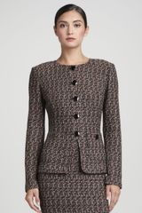 St. John Collection Tweed Noveltybutton Jacket - Lyst
