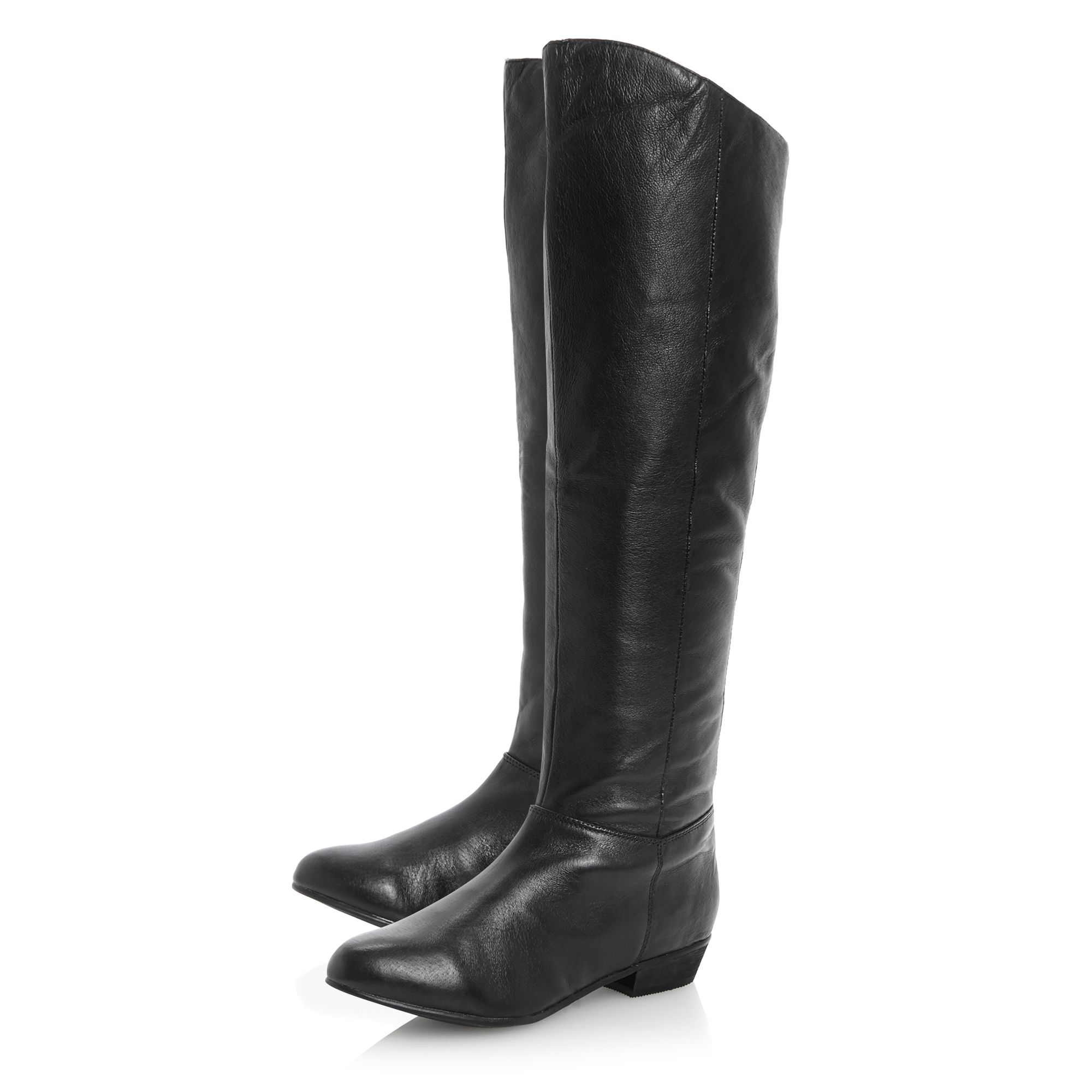 steve madden creationsimple knee high boots in black