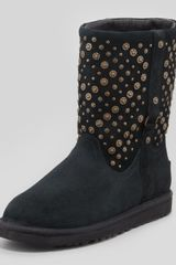 Ugg Studembellished Short Boot Black - Lyst