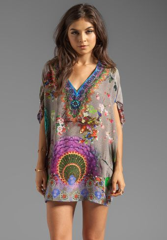 Camilla Poetic License Short Balloon Kaftan in Gray - Lyst