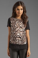 Diane Von Furstenberg Becky Printed Top in Black - Lyst