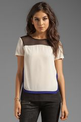 Diane Von Furstenberg Becky Top in Cream - Lyst
