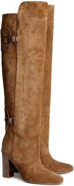 H&M Leather Boots - Lyst