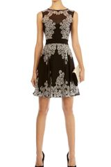 Karen Millen Lace Print Dress - Lyst