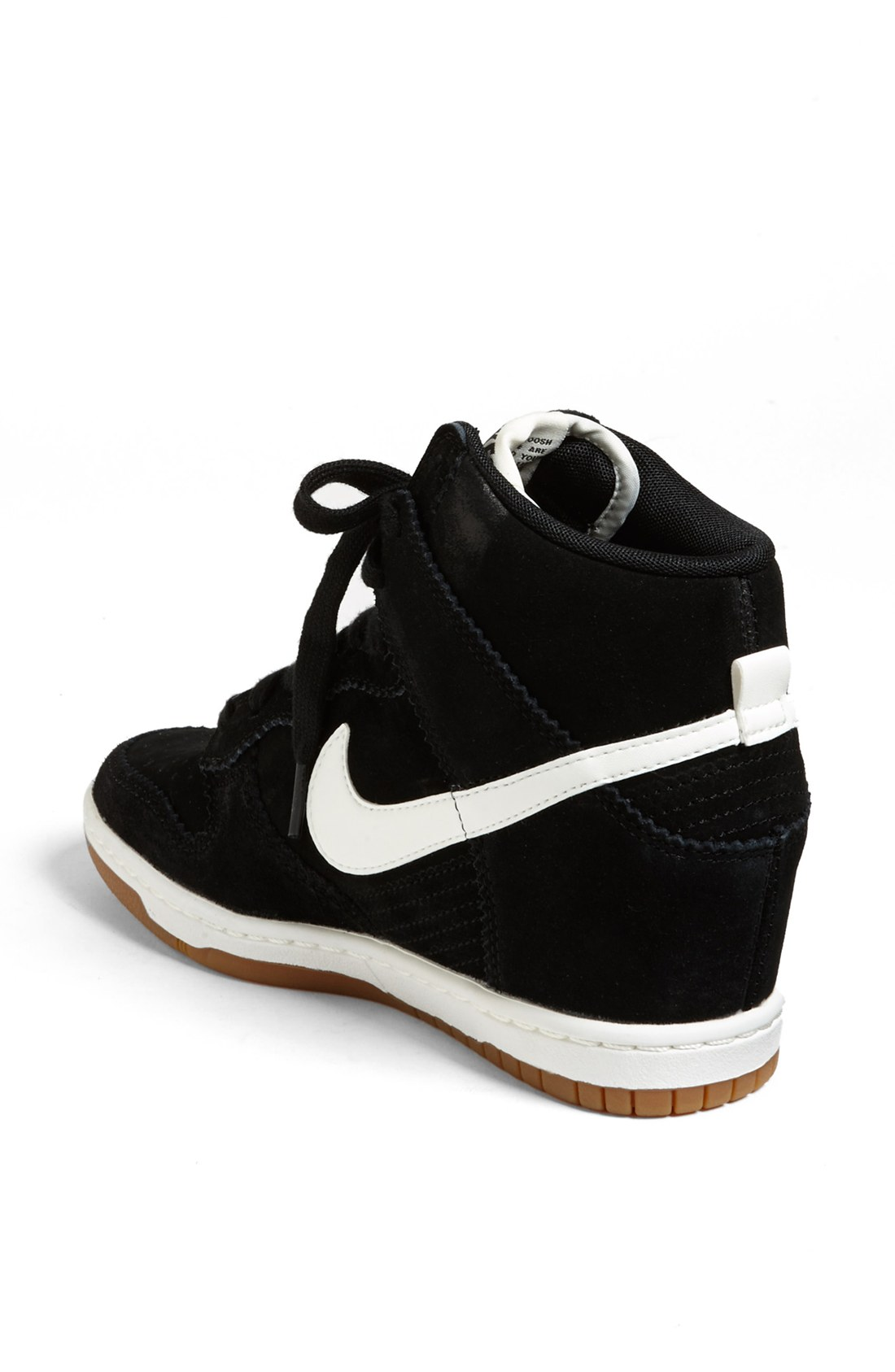 nike dunk sky hi wedge sneaker in black lyst. Black Bedroom Furniture Sets. Home Design Ideas